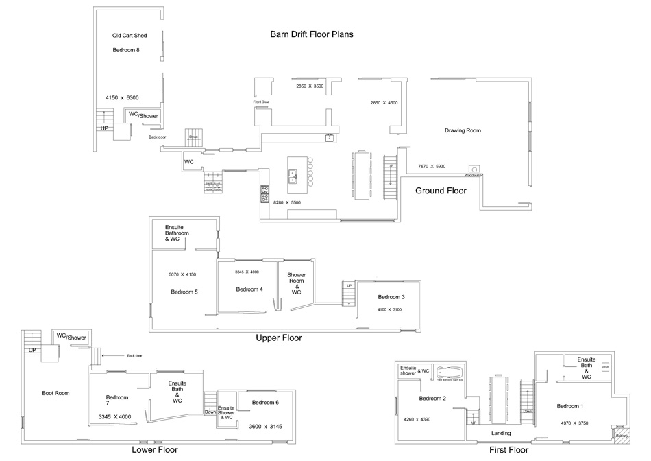 Barn Drift Floorplans